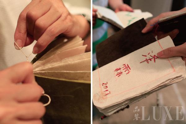 参与人员体验傣纸创新手作艺术课程